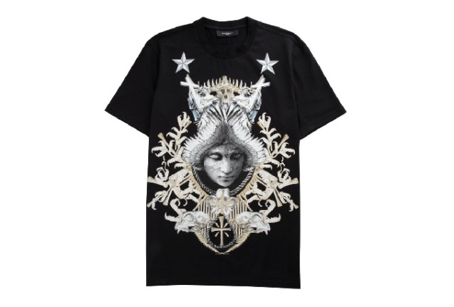 givenchy angel crest oversized tee
