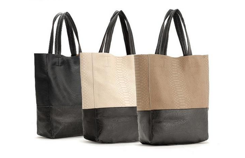 celine micro bag price - Celine (Inspired) Bicolor Cabas Python Bag | Mixmotto